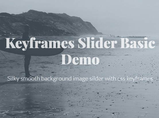 Silky Smooth Background Image Silder With CSS3 Keyframes