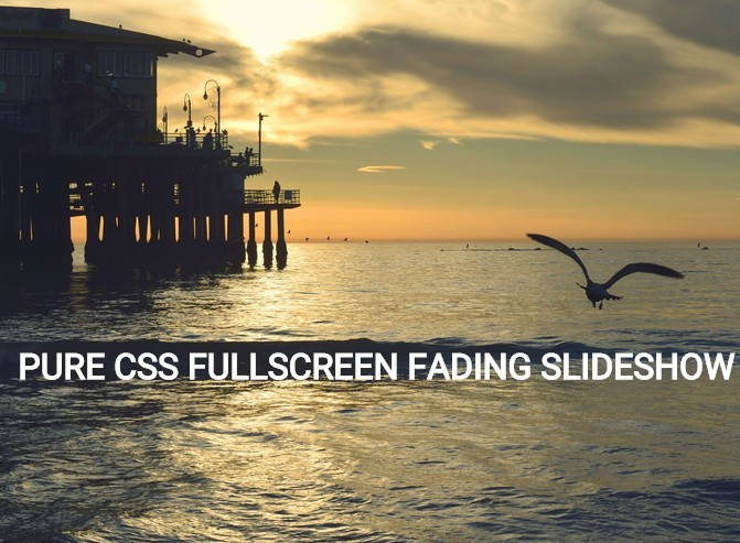 Fullscreen Fading Slideshow with Pure Html / CSS | CSS Script