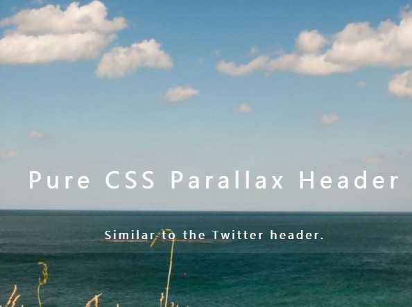 Pure CSS Parallax Header