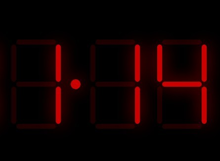 Animated Digital LED Clock with JavaScript and CSS | CSS Script