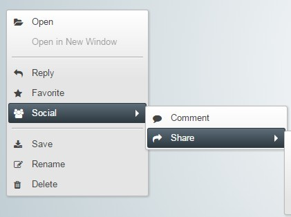 Beautiful Multi-level Context Menu with Pure JavaScript and CSS3