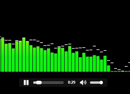 Audio Visualizer with Html5 Audio Element | CSS Script