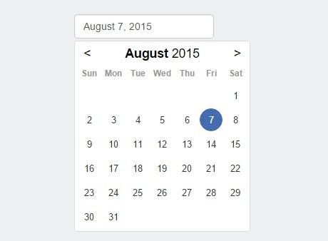Flat Style JavaScript Date Picker – flatpickr