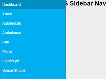 Pure CSS Off-canvas Sidebar Navigation