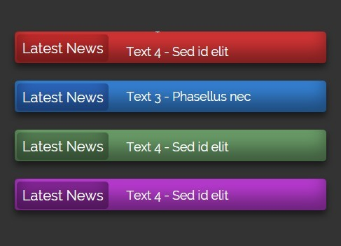 Create A Simple News Ticker using Pure CSS / CSS3