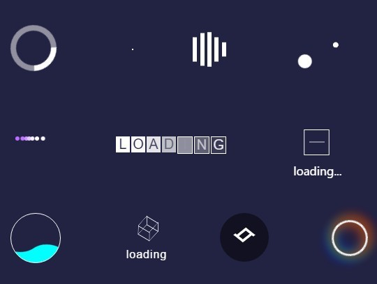 Pure CSS / CSS3 Loading Indicator Collection – Loading Effect