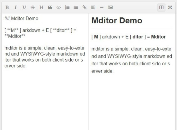 Simple Extendable WYSIWYG Markdown Editor – mditor