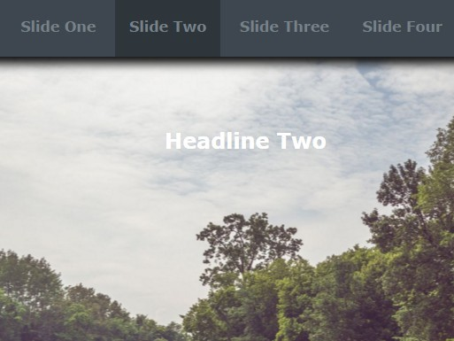 Full Width Horizontal Page Slider with Pure HTML / CSS | CSS Script