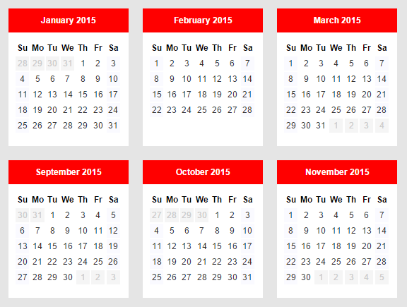 Simple Yearly Calendar In Pure JavaScript – Calendarize