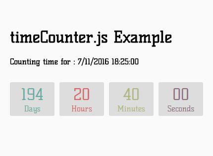 Minimalist Countdown JavaScript Library – timeCounter.js