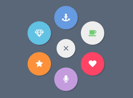 Animated Round Popup Menu With Pure CSS