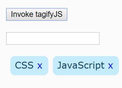 Minimal Pure JavaScript Tags Input Library – tagifyJS