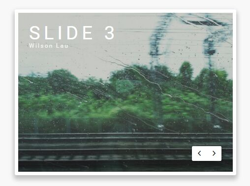 Pure JS / CSS Image Slider With A Masking Effect