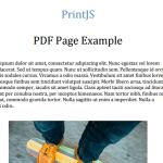 A JavaScript Library For Printing Any Elements On The Page – Print.js