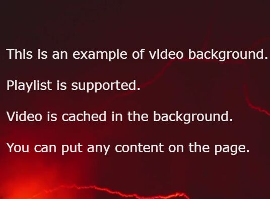 Creating A Fullscreen Video Background With Pure JS – background-video