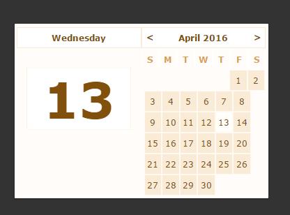 Minimal Vanilla JavaScript Calendar Component   CSS Script