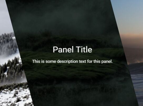 Responsive Skewed Panels With Pure CSS / CSS3