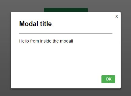 Simple Responsive CSS-Only Modal Dialog