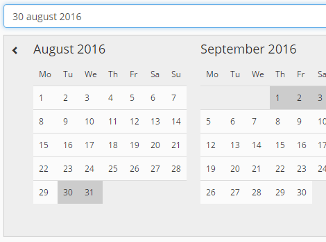 Simple Pure JavaScript Date Range Picker - tripPicker | CSS