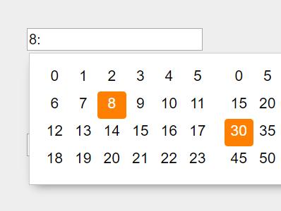 Minimal Timer Picker With Pure JavaScript