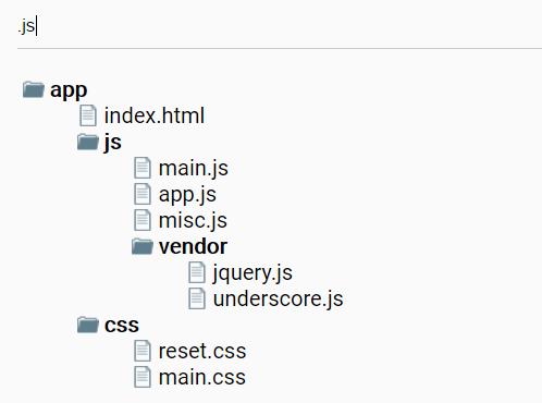Filterable Folder Tree In Pure JavaScript