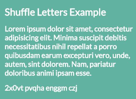 Shuffle Letters Effect In Pure JavaScript – shuffle-letters.js