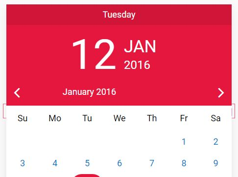 Mobile-friendly Date Picker In Pure JavaScript - Cuppa DatePicker