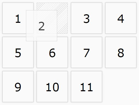 Reordering Grid Items Via Drag and Drop – Grabbable