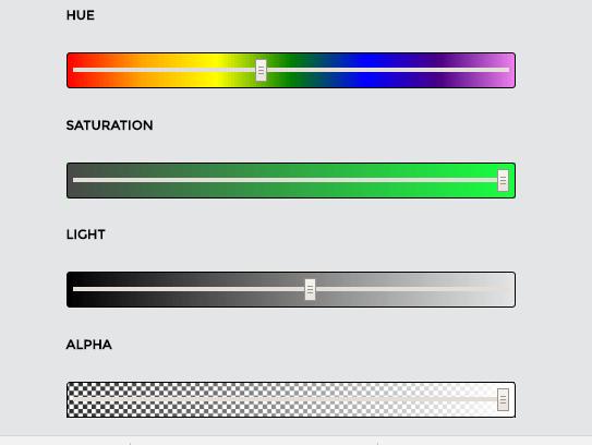 Minimal HSLA Color picker With Pure JavaScript