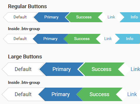 CSS3 Arrow Buttons For Bootstrap