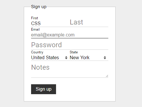 CSS Only Floating Label For Form Fields