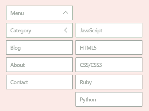 Nested Dropdown Menu In Pure CSS