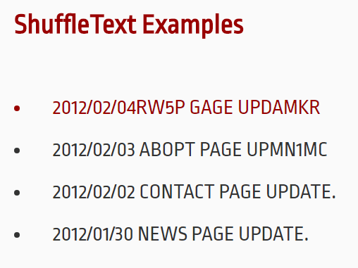 Text Shuffle Animation In Pure JavaScript – shuffle-text.js