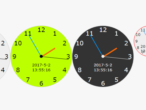 Create Customizable Analog Clocks Using Pure JS – analogClockJs