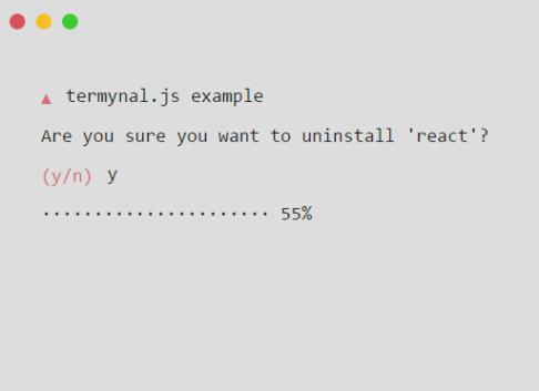 Tiny Terminal Emulator – termynal.js