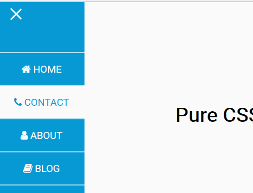 Side Revealing Navigation In Plain HTML/CSS
