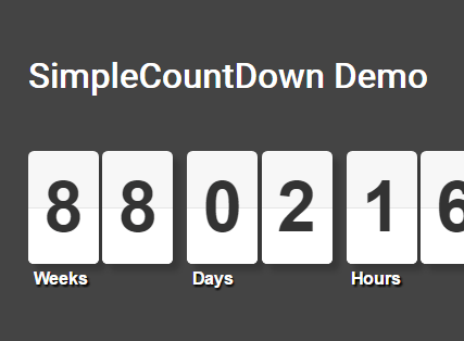Flipping Countdown Clock With JavaScript And CSS – countDown.js