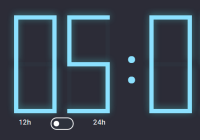 12h 24h Digital Clock In JavaScript And CSS