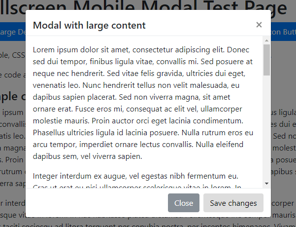 Mobile-friendly Bootstrap 4 Modals  – bootstrap4-fs-modal