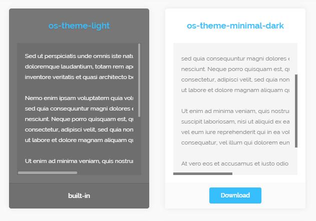 Elegant Themeable Custom Scrollbars – OverlayScrollbars
