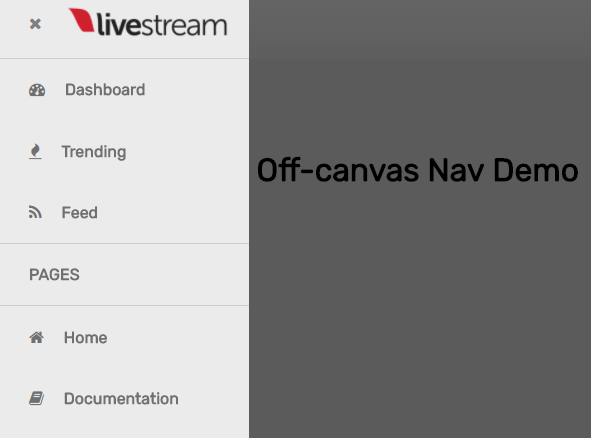Sliding Off-canvas Nav In Vanilla JavaScript