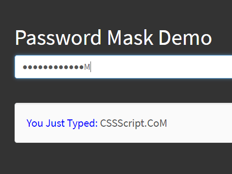 Masking Password After A Delay – YouShallPass
