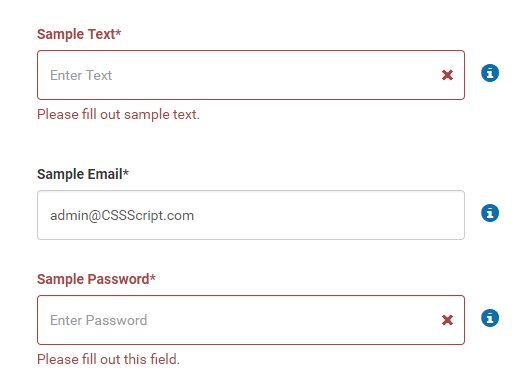 Custom HTML5 Form Validator – native-validations