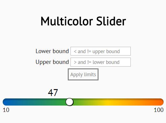 Gradient Slider Control In Pure JavaScript – slider.js