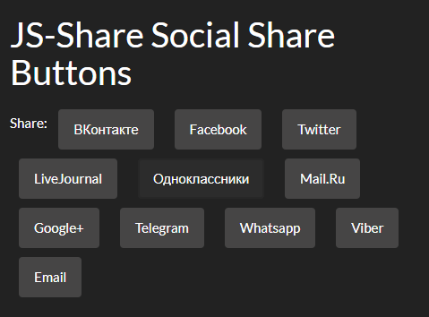 Small Social Share Buttons With Vanilla JavaScript – JS-Share