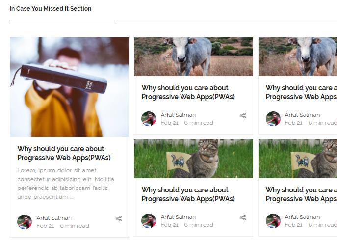 Responsive Medium.com Inspired Gallery & Layout In Vanilla JavaScript