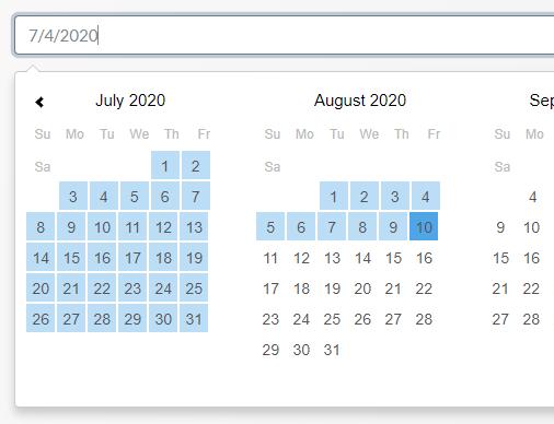 Tiny Customizable Date Range Picker – TinyPicker