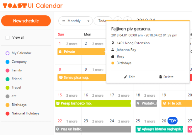 Full-featured Calendar JavaScript Library – tui.calendar