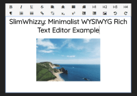 Minimalist WYSIWYG Rich Text Editor - SlimWhizzy-min