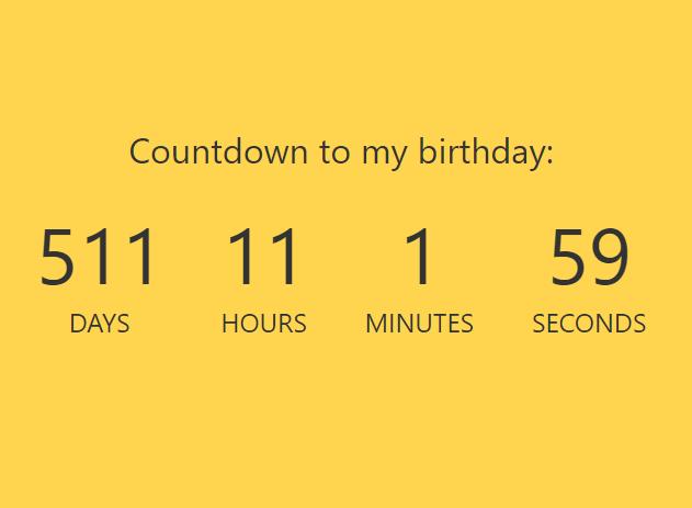 Simple Countdown Timer In Vanilla JavaScript – ysCountDown.js